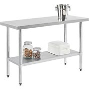 "Stainless Steel Workbench - 48""W x 24""D 18 Gauge w/ Undershelf"
