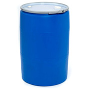 Mauser 55 Gallon Open-Head Plastic Drum with Bung Cover POLY55OHBL - Blue