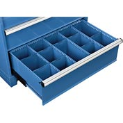"""Dividers for 10""""H Drawer of Global™ Modular Drawer Cabinet 36""""Wx24""""D, Blue"""