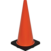"28"" Traffic Cone, Non-Reflective, Black Base, 7 lbs"
