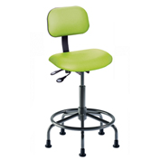 "BioFit Operator Chair - Multifunctional Control- Height 21 - 28"" - Black Vinyl"