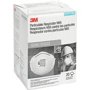 3M™ Particulate Respirator 8200/07023(AAD), N95, Box of 20