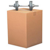 "Doublewall Heavy-Duty Cardboard Corrugated Box 18"" x 12"" x 8"" 275lb Test - 15 Pack"