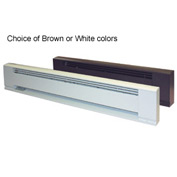 "TPI 48"" Architectural Style Electric Baseboard Heater F3710048 - 1000W 208V White"