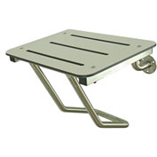 Frost Full Wall Mounted Shower Seat - Stainless/White - 972