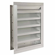 """Combination Louver / Damper with Flange 18""""W x 60""""H - ACL-F-18x60"""