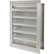 """Combination Louver / Damper with Flange 48""""W x 36""""H - ACL-F-48x36"""