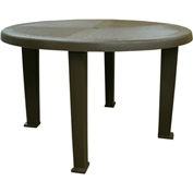 """Brentwood 48"""" Round Table, Earth Brown"""