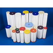 Global 50 Micron Water Filtration Cartridge, Std. Pleated, Polypropylene, 2-3/4 Dia. X 9-3/4H - Pkg Qty 50