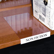 Label Holder, Moveable Shelf, Clear (10 pcs/pkg)