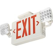 Lithonia ECR LED M6 Red Emergency Combo Exit / Unit with LED Heads