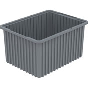 Akro-Mils Akro-Grid Dividable Container 33222 22-1/2 x 17-1/2 x 12 Gray - Pkg Qty 3