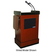 Wireless Multimedia Computer Podium / Lectern - Mahogany