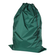 "American Supply 30"" Drawcord Laundry Bag, 420 Denier Nylon, Green, Straight Bottom"
