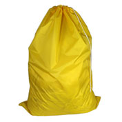 "American Supply 30"" Drawcord Laundry Bag, 420 Denier Nylon, Yellow, Straight Bottom"