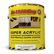 No Skidding Super Acrylic Slip-Resistant Coating With Integrated Traction - 1 Gal. - Clear - Pkg Qty 2