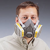 3M 6000 Series Low-Maintenance Respirators - Half-Mask Respirator - Large