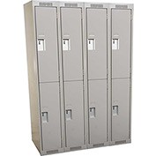Clean-Line Assembled 2-Tier Lockers - 4 Lockers Wide