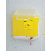 Wall-Mount Bracket For Sharps Biohazard Collector - 5.1L Capacity