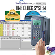 Amano Time Guardian® Automated Time Clock System, Gray, MTX-15/A302