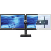 AVTEQ PS-100L-CTR Universal Videoconferencing Wall Mounting Kit, Dual Monitor, Steel, Black