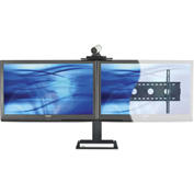 AVTEQ PS-100L Universal Videoconferencing Wall Mounting Kit, Dual Monitor, Steel, Black