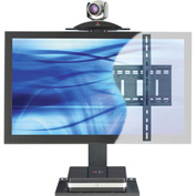 AVTEQ PS-100S Universal Videoconferencing Wall Mounting Kit, Single Monitor, Steel, Black