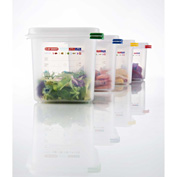Araven 03034 - Food Container, Airtight, W/Lid, PP, 10.5 Qt., 1/2 Size, Colorclip®, Transparent - Pkg Qty 6