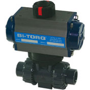 "BI-TORQ 1"" 2-Way PVC Ball Valve W/Dbl. Acting Pneum. Actuator"
