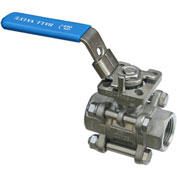 "2"" 3-Pc SS NPT Ball Valve With Manual Locking Handle"