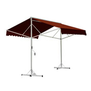 Awntech RICH14-TER, Retractable Awning Free Standing Manual 14'W x 16'D x 8'H Terra Cotta