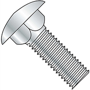 "Carriage Bolt - 3/8-16 x 3/4"" - Round Head - Steel - Zinc CR+3 - Grade A - FT - A307 - Pkg of 125"