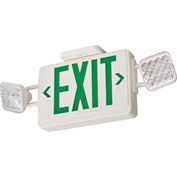 Lithonia ECG LED M6 Green Emergency Combo Exit / Unit with LED Heads