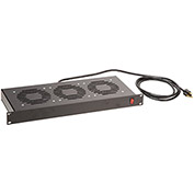 Bud Industries FT-1973 Fan Tray Assembly (3 Fans Included), Black