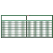 "Behlen Country Wire-Filled 20 Gauge Steel Gate 92"" Usable Length, 96""L x 1-5/8""W x 50""H, Green"