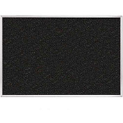 "Balt® ReTire Recycled Rubber Tackboard with Ultra Trim-Black 36""W x 24""H"