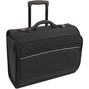 "Bond Street 466113 Nylon Business Case on Wheels, 8.5""W x 15""H x 19.75""L, Black"
