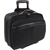 "Bond Street 468929 Nylon Business Case on Wheels, 8""W x 14.5""H x 18""L, Black"