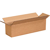 "Long Cardboard Corrugated Box 14"" x 4"" x 4"" 200lb. Test/ECT-32 - 25 Pack"