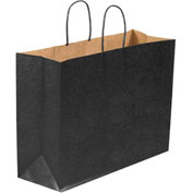 "Color Shopping Bags 16"" x 6"" x 12"" Black 250 Pack"