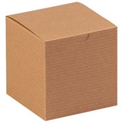 "Kraft Gift Boxes 4"" x 4"" x 4"" - 100 Pack"