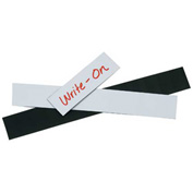 "Warehouse Labels Magnetic Strips White 2"" x 8"" - 25 Pack"
