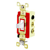 Bryant 4925W Toggle Switch, Double Pole, Double Throw, 20A, 120/277V AC, White