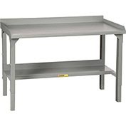 "Little Giant WA-2848-E 48""W x 28""D Little Giant WA-2848-E Welded Workbench w/ Back Stop, End Stops"