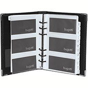 Bugatti BCC97355 Synthetic Leather Business Card Case, Black