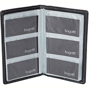 Bugatti BCC97357 Smooth Synthetic Leather Business Card Case, Black