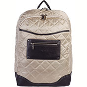 "Bugatti BKP22101 Quilted Ladies Computer Backpack, 6""W x 16.5""H x 12.5""L, Beige"