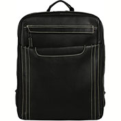 "Bugatti BKP94924 Columbian Leather Backpack, 15.6"" Computer Case, Black"