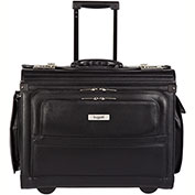 Bugatti BZCW053 Synthetic Leather Business Case on Wheels, Black