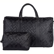 "Bugatti DUF23111 Smooth Nylon Ladies Duffle Bag, 12""W x 11""H x 20""L, Black"